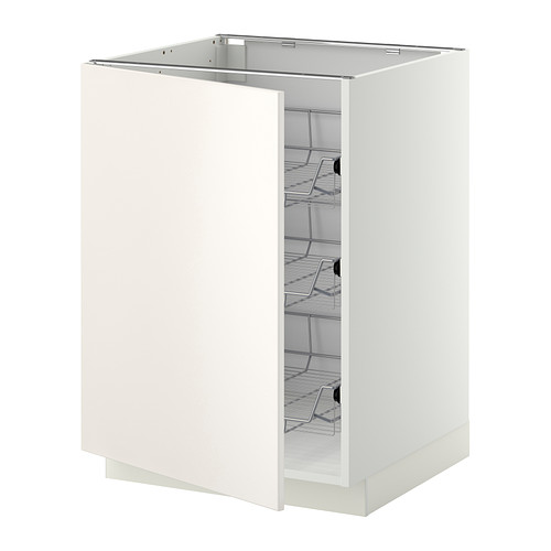 METOD - base cabinet with wire baskets, white/Veddinge white | IKEA Hong Kong and Macau - PE332453_S4