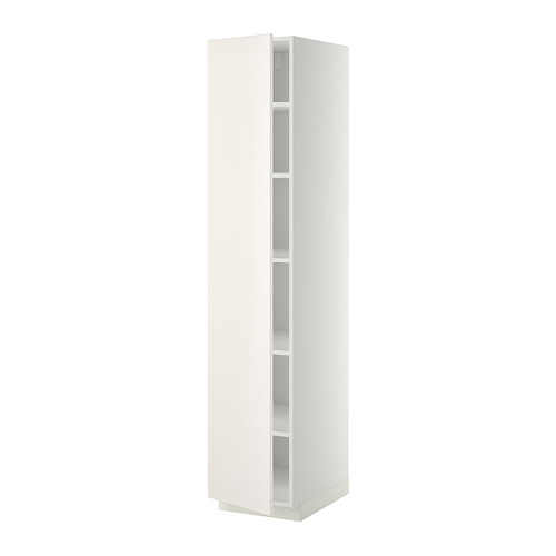 METOD - high cabinet with shelves, white/Veddinge white | IKEA Hong Kong and Macau - PE332480_S4