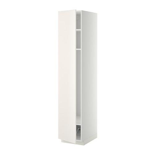 METOD - high cabinet w shelves/wire basket, white/Veddinge white | IKEA 香港及澳門 - PE332485_S4