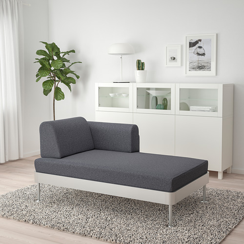 DELAKTIG chaise longue with armrest