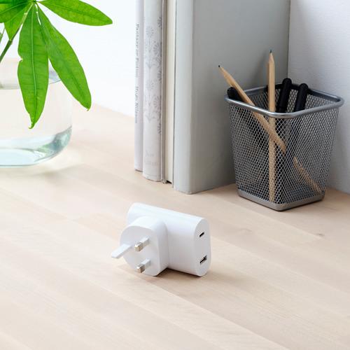 ÅSKSTORM - 23W USB充電器, 白色   IKEA 香港及澳門 - PE761008_S4