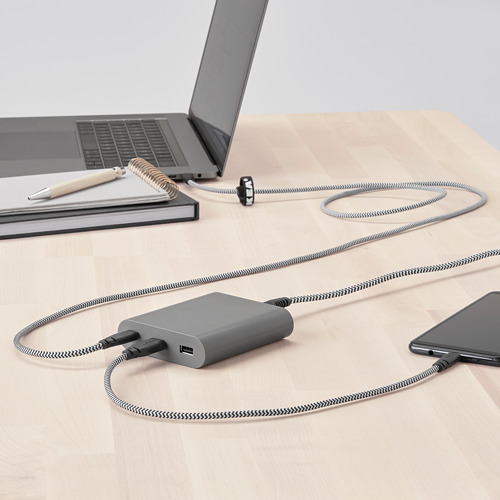 ÅSKSTORM - 40W USB充電器, 深灰色 | IKEA 香港及澳門 - PE761057_S4