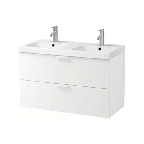 GODMORGON/ODENSVIK - wash-stand with 2 drawers, white/Dalskär tap | IKEA Hong Kong and Macau - PE556662_S4