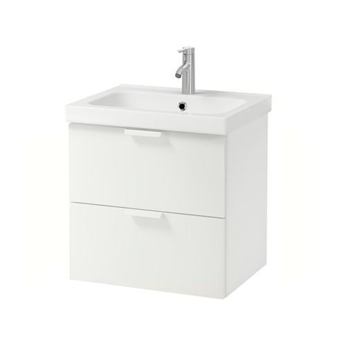 ODENSVIK/GODMORGON 雙抽屜洗手盆櫃