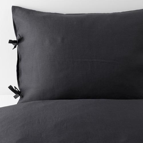 PUDERVIVA - 被套枕袋套裝, 深灰色, 150x200/50x80 cm  | IKEA 香港及澳門 - PE621000_S4