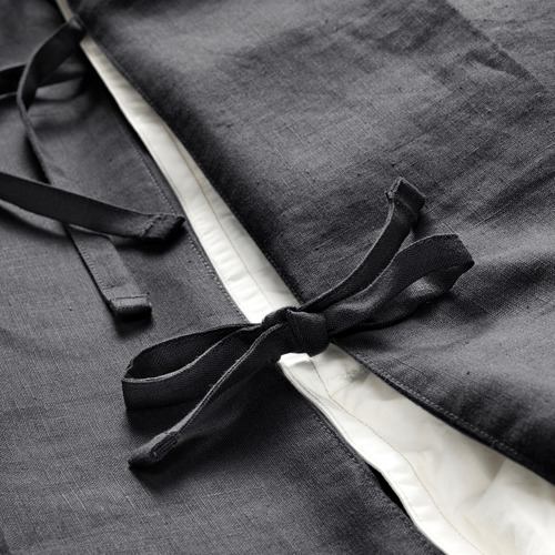 PUDERVIVA - 被套枕袋套裝, 深灰色, 150x200/50x80 cm  | IKEA 香港及澳門 - PE621001_S4