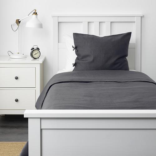 PUDERVIVA - 被套枕袋套裝, 深灰色, 150x200/50x80 cm  | IKEA 香港及澳門 - PE621016_S4