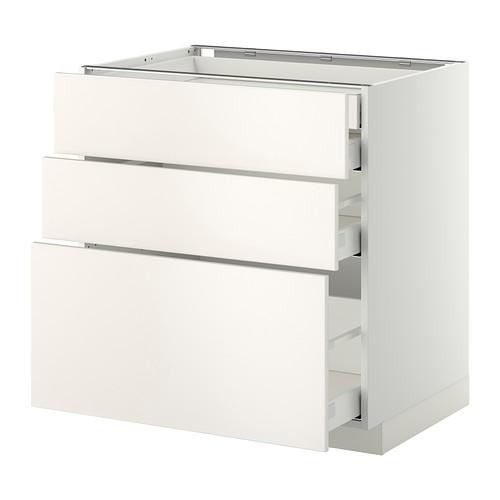 METOD - base cb 3 frnts/2 low/1 md/1 hi drw, white Maximera/Veddinge white | IKEA Hong Kong and Macau - PE332826_S4