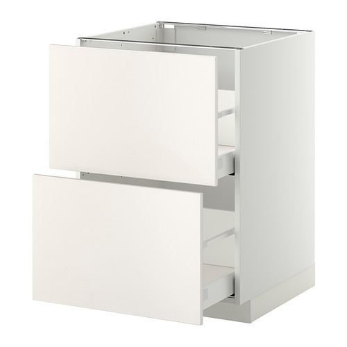 METOD - base cb 2 fronts/2 high drawers, white Maximera/Veddinge white | IKEA Hong Kong and Macau - PE332837_S4