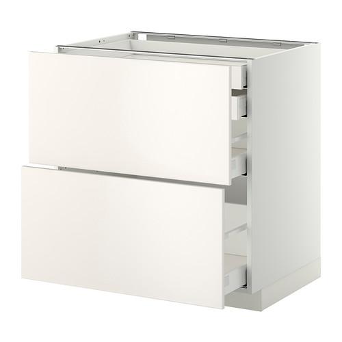 METOD - base cb 2 frnts/2 low/1 md/1 hi drw, white Maximera/Veddinge white | IKEA Hong Kong and Macau - PE332841_S4