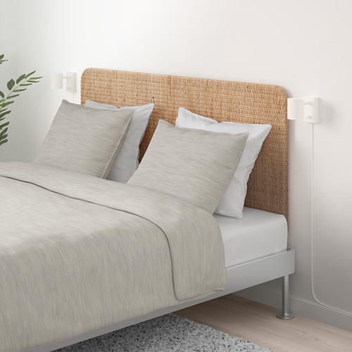 DELAKTIG 加大雙人床架連床頭板
