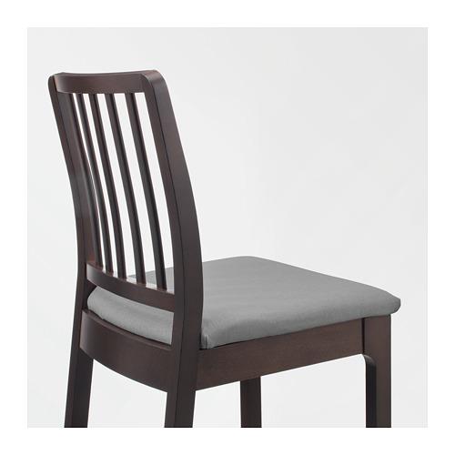 EKEDALEN - 高腳凳連靠背, 椅座高度75cm, 深褐色/Orrsta 淺灰色 | IKEA 香港及澳門 - PE720433_S4