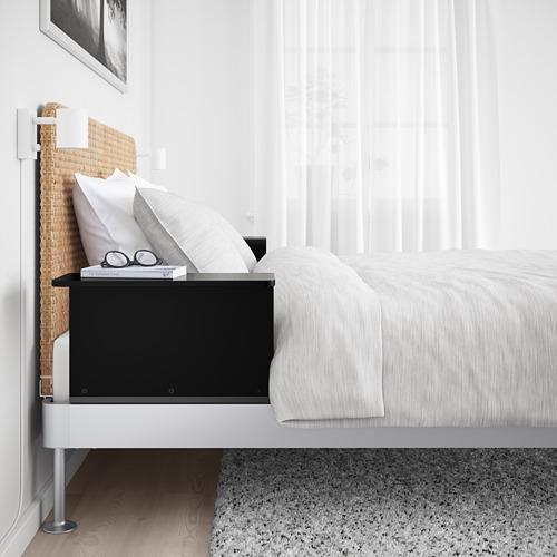 DELAKTIG 特大雙人床架/床頭板/角几組合