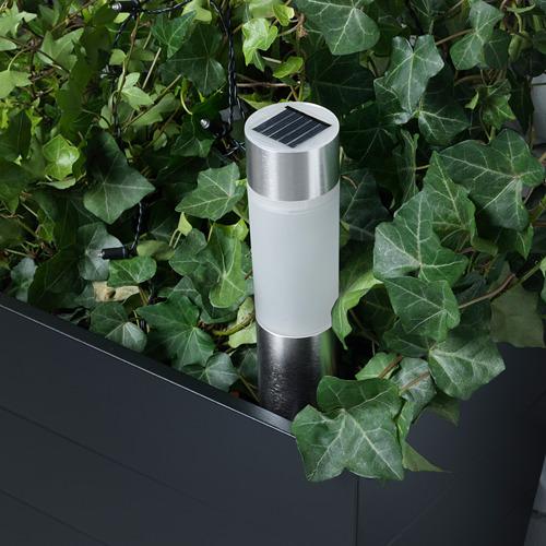 SOLVINDEN - 太陽能LED裝飾燈, 圓柱形/鋁色   IKEA 香港及澳門 - PE620314_S4