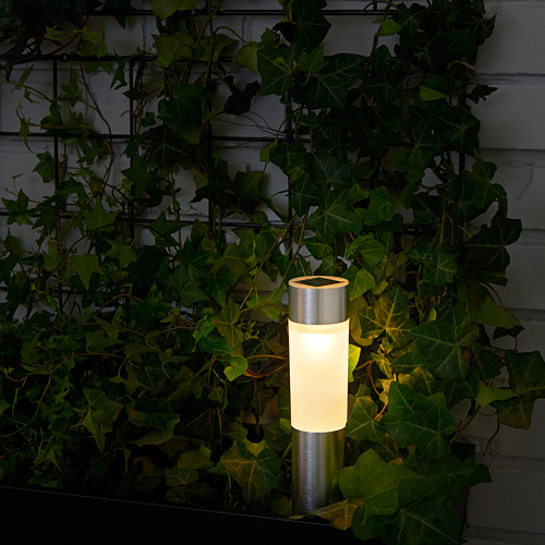 SOLVINDEN - 太陽能LED裝飾燈, 圓柱形/鋁色   IKEA 香港及澳門 - PE620382_S4