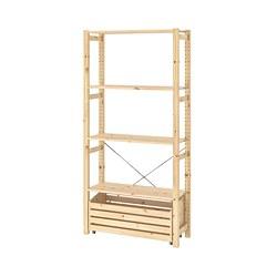 IVAR - shelving unit with storage box, pine | IKEA 香港及澳門 - PE815617_S3