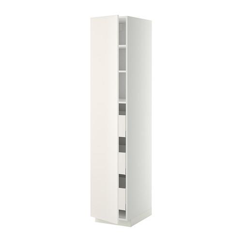METOD/MAXIMERA - high cabinet with drawers, white/Veddinge white | IKEA Hong Kong and Macau - PE332873_S4