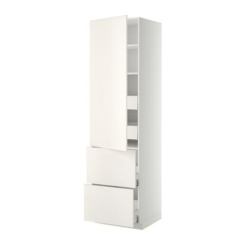 METOD/MAXIMERA - hi cab w shlvs/4 drawers/dr/2 frnts, white/Veddinge white | IKEA 香港及澳門 - PE332875_S4