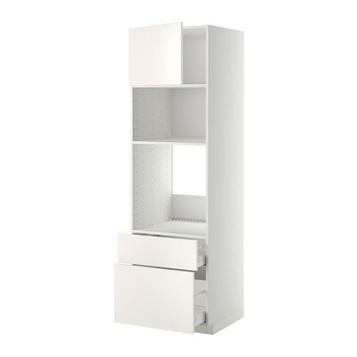 METOD/MAXIMERA - high cab f oven/micro w dr/2 drwrs, white/Veddinge white   IKEA 香港及澳門 - PE332897_S4