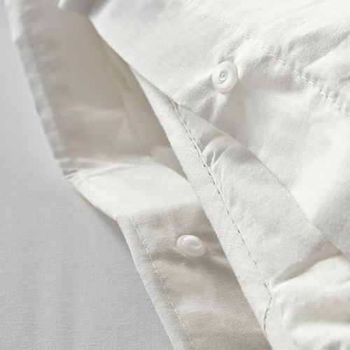 DVALA - 被套連2個枕袋, 白色, 200x200/50x80 cm  | IKEA 香港及澳門 - PE569838_S4