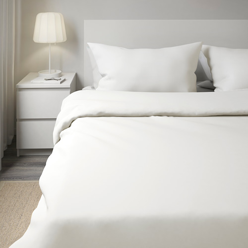 DVALA - 被套連2個枕袋, 白色, 200x200/50x80 cm  | IKEA 香港及澳門 - PE570203_S4