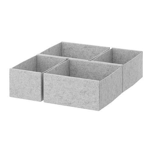 KOMPLEMENT - box, set of 4, light grey | IKEA Hong Kong and Macau - PE670729_S4