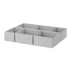 KOMPLEMENT - box, set of 6, light grey | IKEA Hong Kong and Macau - PE670730_S3
