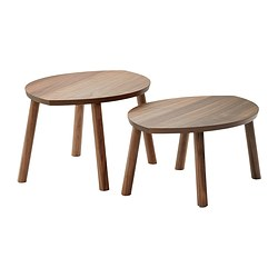 STOCKHOLM - nest of tables, set of 2, walnut veneer | IKEA Hong Kong and Macau - PE334170_S3