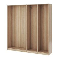 PAX - 3 wardrobe frames, white stained oak effect | IKEA Hong Kong and Macau - PE670789_S3
