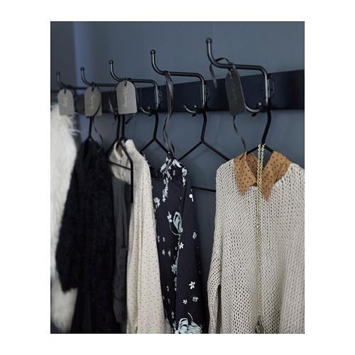 PINNIG - rack with 3 hooks, black   IKEA Hong Kong and Macau - PH147175_S4