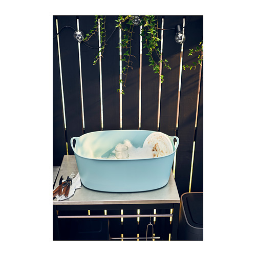 TORKIS - flexi laundry basket, in-/outdoor, blue | IKEA Hong Kong and Macau - PH142739_S4