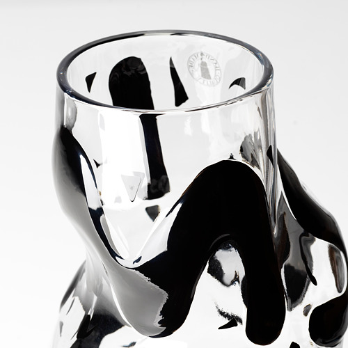 IKEA ART EVENT 2021 - vase, clear glass/black | IKEA Hong Kong and Macau - PE815731_S4