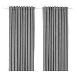 HANNALENA - 半遮光窗簾,一對, 灰色 | IKEA 香港及澳門 - PE670815_S3