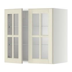 METOD - 吊櫃連層板/1對玻璃門, white/Bodbyn off-white | IKEA 香港及澳門 - PE334089_S3