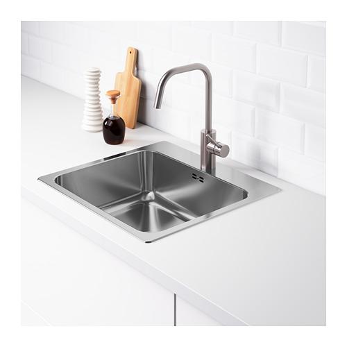 LÅNGUDDEN - 單星盆, 不銹鋼 | IKEA 香港及澳門 - PE670945_S4