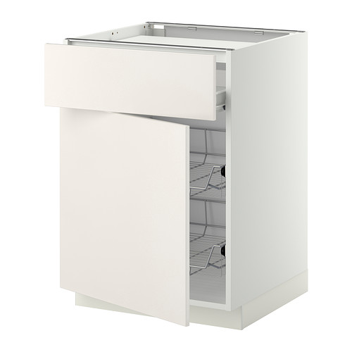 METOD/FÖRVARA base cab f hob/drawer/2 wire bskts
