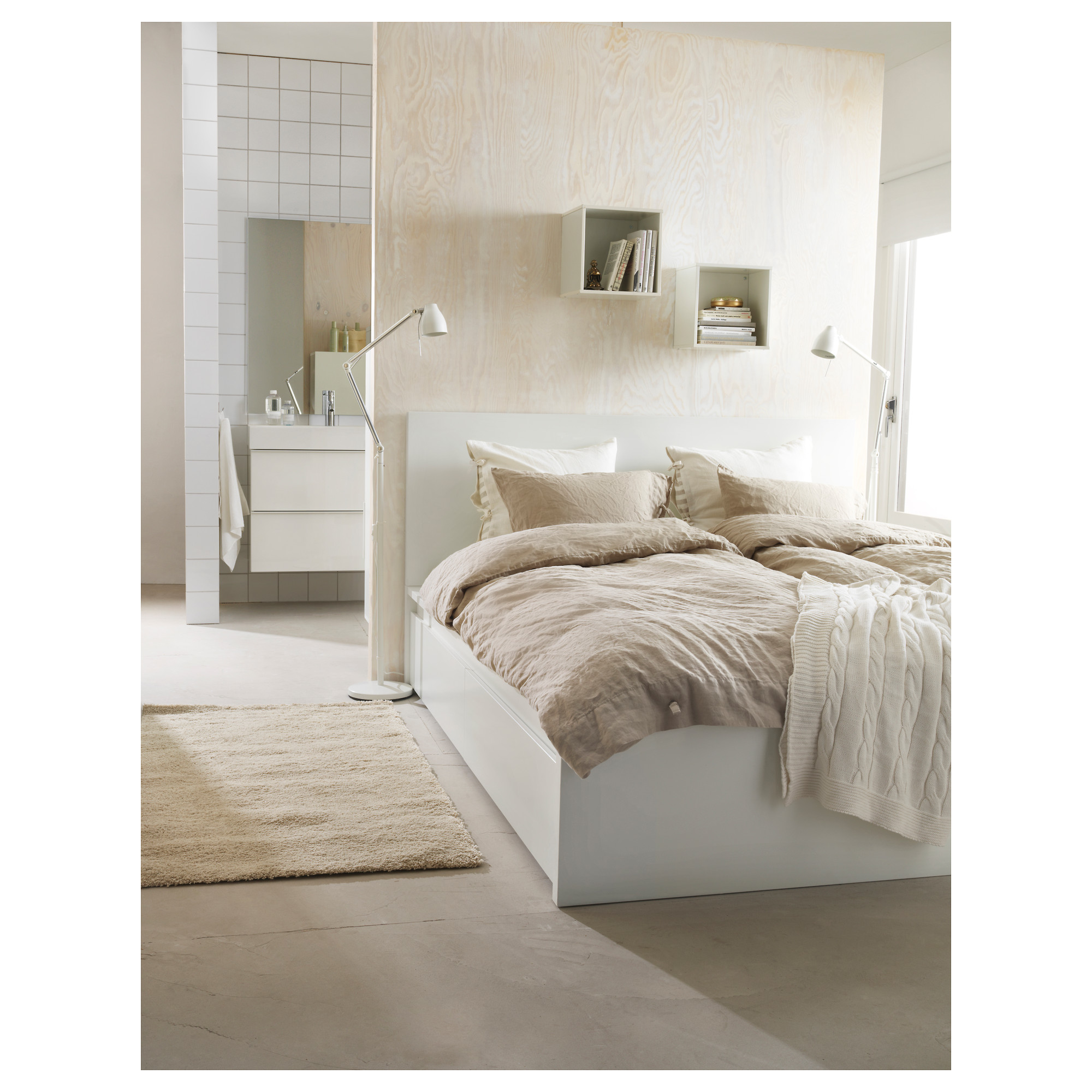 Malm Bed Frame High W 4 Storage Boxes Lonset Queen Ikea Hong Kong And Macau