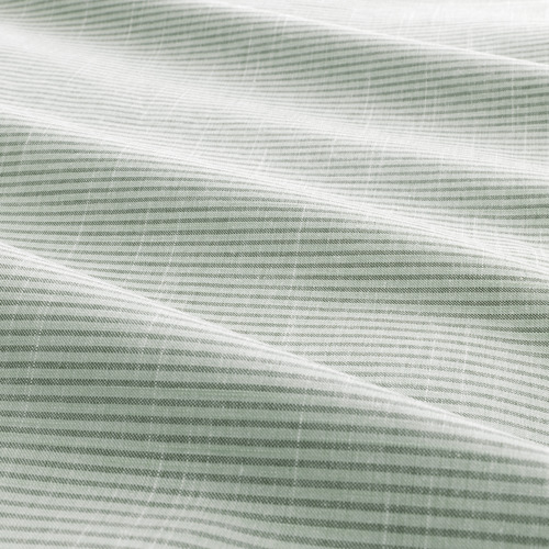 BERGPALM - quilt cover and 2 pillowcases, green/stripe, 200x200/50x80 cm  | IKEA Hong Kong and Macau - PE692784_S4