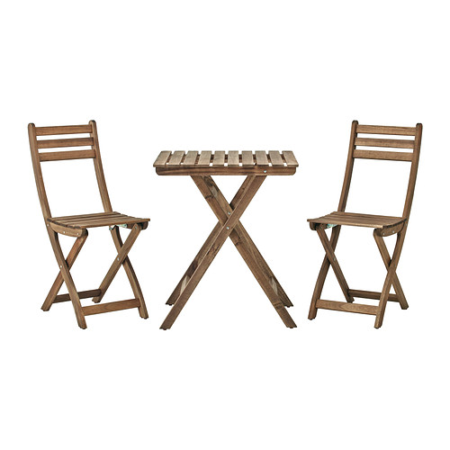 ASKHOLMEN table+2 chairs, outdoor