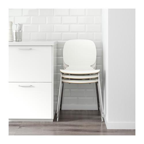 SVENBERTIL - chair, white/Broringe chrome-plated | IKEA Hong Kong and Macau - PE620803_S4