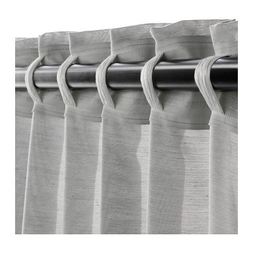 HILJA - 窗簾,一對, 灰色 | IKEA 香港及澳門 - PE671126_S4