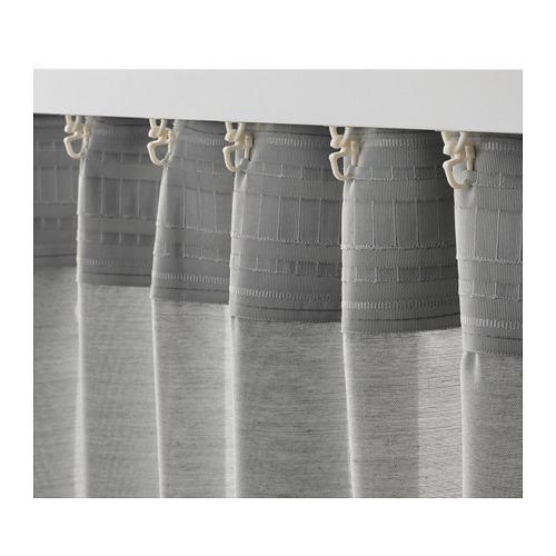 HILJA - 窗簾,一對, 灰色 | IKEA 香港及澳門 - PE671129_S4