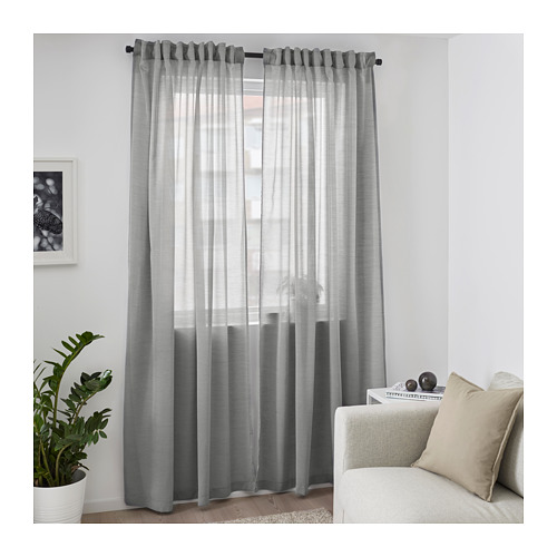 HILJA - 窗簾,一對, 灰色 | IKEA 香港及澳門 - PE671128_S4