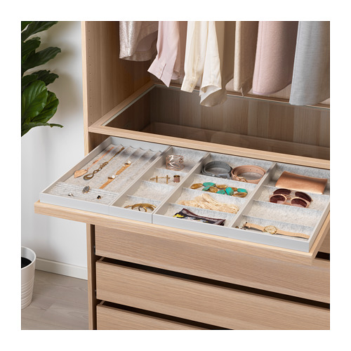 KOMPLEMENT - pull-out tray with insert, white stained oak effect   IKEA Hong Kong and Macau - PE671167_S4