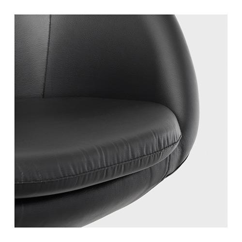 SKRUVSTA - 旋轉椅, Idhult 黑色 | IKEA 香港及澳門 - PE671176_S4