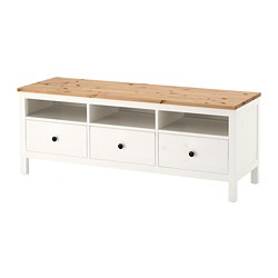 HEMNES - TV bench, white stain/light brown | IKEA Hong Kong and Macau - PE671187_S3