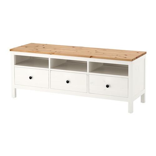 HEMNES - TV bench, white stain/light brown | IKEA Hong Kong and Macau - PE671187_S4