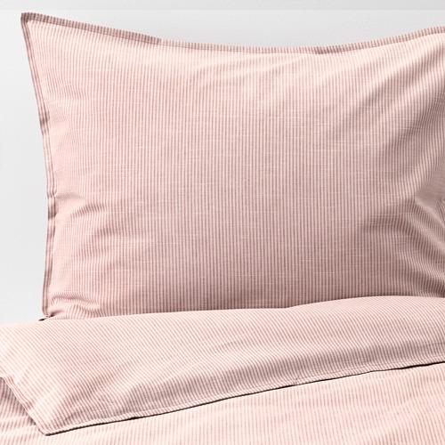BERGPALM - 被套枕袋套裝, 粉紅色/條紋, 150x200/50x80 cm  | IKEA 香港及澳門 - PE692786_S4