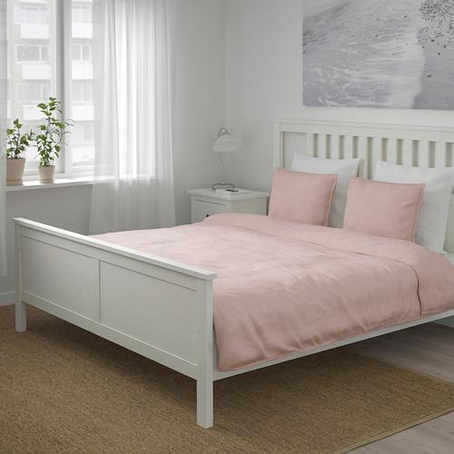 BERGPALM - 被套連2個枕袋, 粉紅色/條紋, 200x200/50x80 cm    IKEA 香港及澳門 - PE692793_S4