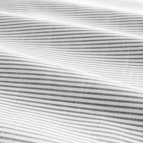 BERGPALM - quilt cover and pillowcase, grey/stripe, 150x200/50x80 cm  | IKEA Hong Kong and Macau - PE692781_S4